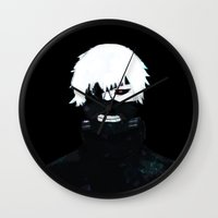 tokyo ghoul Wall Clocks featuring TOKYO GHOUL by villian