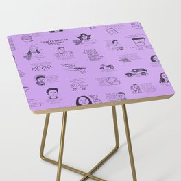 Gilmore Girls Quotes in Purple Side Table