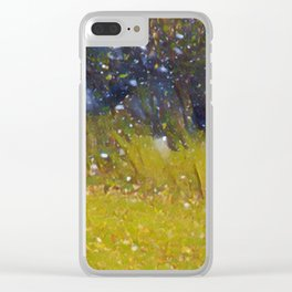 Snow in October Clear iPhone Case