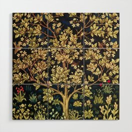 William Morris Tree Of Life Wood Wall Art