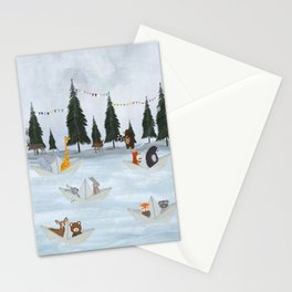 the great paper boat race Stationery Cards
