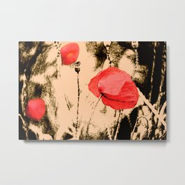 Art Poppy Metal Print