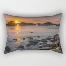 On the beach at nightfall Rectangular Pillow