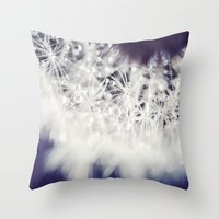 dandelion Throw Pillows featuring Dandelion  by Juste Pixx Photography