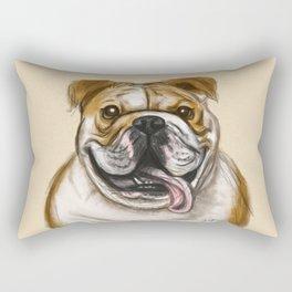 Smiling Bulldog Rectangular Pillow