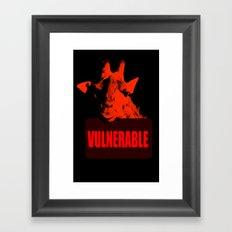 Vulnerable Giraffe Framed Art Print