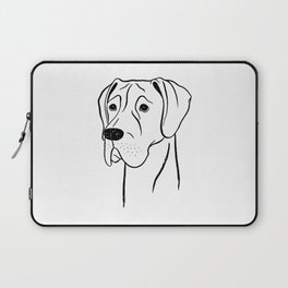 Great Dane (Black and White) Laptop Sleeve