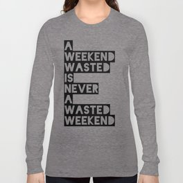 A Weekend Water (Black) Long Sleeve T-shirt