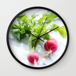 Spring Radishes Wall Clock