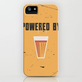 Funny Powered By Chai Tea Quote iPhone Case