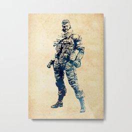 Venom Snake - Metal Gear Solid Metal Print