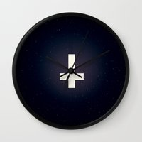 anchors Wall Clocks featuring Anchors by NightTerrors