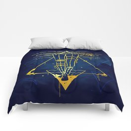 Midnight Bath - Blue/Gold pallette Comforters