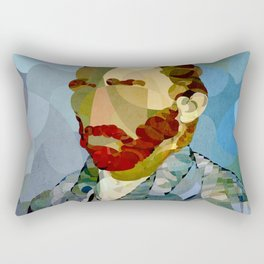 Curves - Autorretrato de Vincent van Gogh Rectangular Pillow