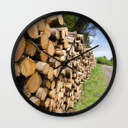 The wood stack Wall Clock