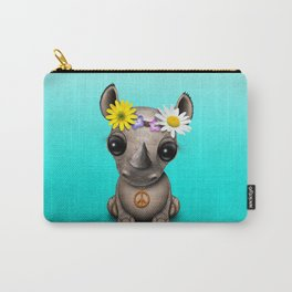 Cute Baby Rhino Hippie Carry-All Pouch