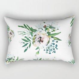 Blush Floral Rectangular Pillow