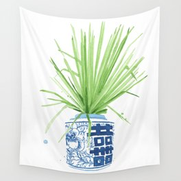 Ginger Jar + Fan Palm Wall Tapestry