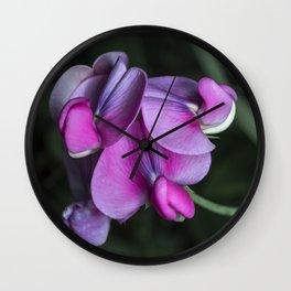 Sweet pea flowers Wall Clock