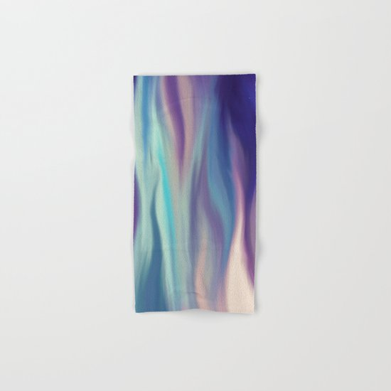 Painted digital silk texture blue colors Hand & Bath Towel