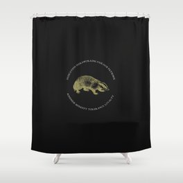 House of the Loyal - Black Shower Curtain