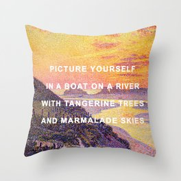 Sunset in the Sky with Diamonds Throw Pillow