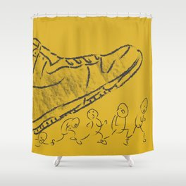 Giant shoe Shower Curtain