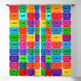 Neon Cassettes Blackout Curtain