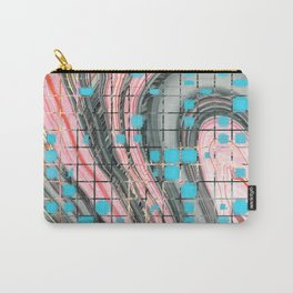 Pink and Blue Block Party Art by Sharon Cummings Carry-All Pouch