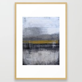 """1124 abstract gold horizon"" by Roger König Framed Art Print"