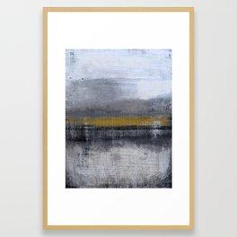 """1124 abstract gold horizon"" by Roger König Framed Art Print"