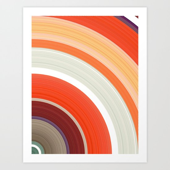 Shades of Orange Rings Art Print