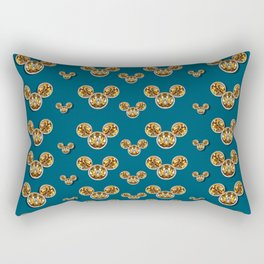 Cartoon animals in gold and silver gift decorations Rectangular Pillow