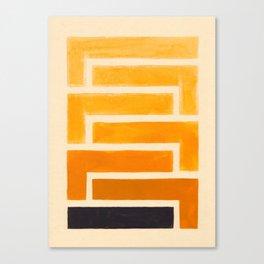 Yellow Ocher Mid Century Pattern Canvas Print