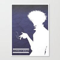 cowboy bebop Canvas Prints featuring Cowboy Bebop ver 2 by AWAL