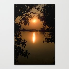 Naturally framed sunset Canvas Print