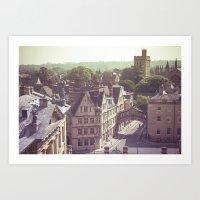england Art Prints featuring Oxford England by AlejandraClick