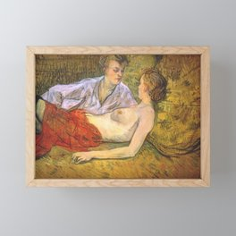 Henri de Toulouse-Lautrec - The Two Friends Framed Mini Art Print