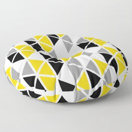 Triangular Vitrail Mosaic Pattern V.01 Floor Pillow
