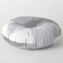 Gray Polygon Background Floor Pillow