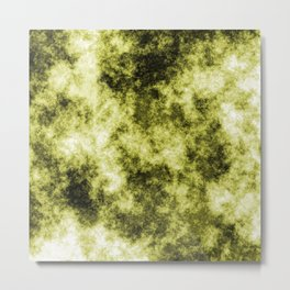 Sap green abstract Metal Print
