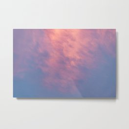 Purple Sky with Pink Clouds Metal Print