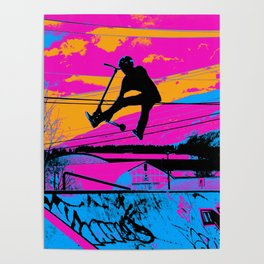 Lets Fly!  - Stunt Scooter Poster