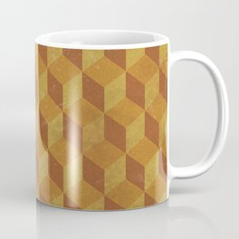 Golden Cube Coffee Mug