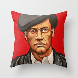 "Huey Newton ""Revolutionary"" Throw Pillow"