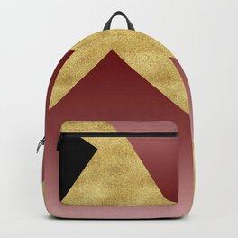 Elegant gold black pink geometry Backpack