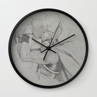 thor Wall Clocks featuring Thor by Gianni
