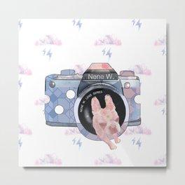 Thundercloud and camera Metal Print