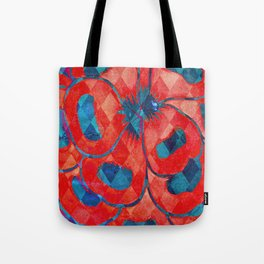 Red and Blue Diamond Pattern Tote Bag