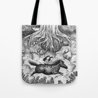 sisters Tote Bags featuring Sisters by Ulrika Kestere
